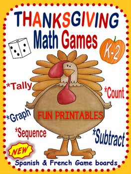 Thanksgiving Math Games for Pre-K to 2~ Hands-On Fun!