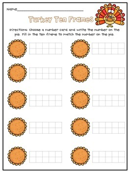 Thanksgiving Math Centers for Kindergarten and First Grade