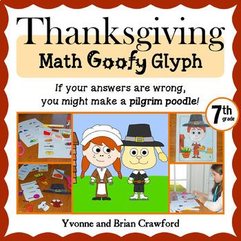 Thanksgiving Math Goofy Glyph (7th grade Common Core)