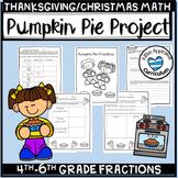 Christmas Fraction Activity Pumpkin Pie Fractions
