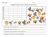 Thanksgiving Math Graphing Morning Work Homework Worksheet