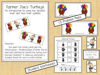Thanksgiving Math - Greater Than, Less Than