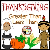 Thanksgiving Math - Greater Than / Less Than Smartboard Fun!