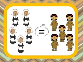 Thanksgiving Math - Greater Than / Less Than Smartboard Fun!
