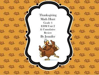 Thanksgiving Math Hunt-EDM Unit 2 Grade 4