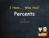 Thanksgiving Math: I Have, Who Has - Percents