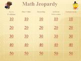 Thanksgiving Math Jeopardy