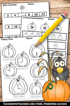 Thanksgiving Math Worksheets Kindergarten Activities Packet Special Education