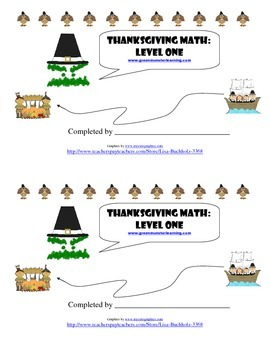 Thanksgiving Math: Level One