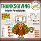 Thanksgiving Math & Literacy BUNDLE - Pre-K | Preschool | Kinder