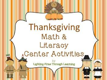 Thanksgiving Math & Literacy Center Activities
