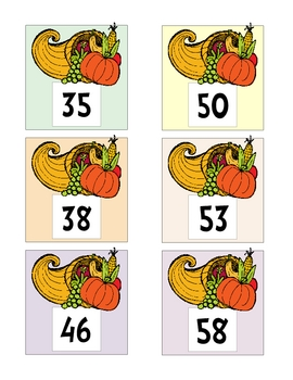Thanksgiving Math & Literacy Centers Kindergarten First Second