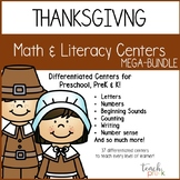 Thanksgiving Math & Literacy Centers Mega-Bundle for Preschool, PreK, & K