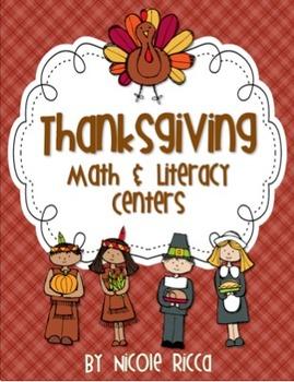 Thanksgiving Math & Literacy Centers Pack