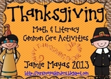 Thanksgiving Math & Literacy Common Core Centers {Thanksgiving Super Pack II}