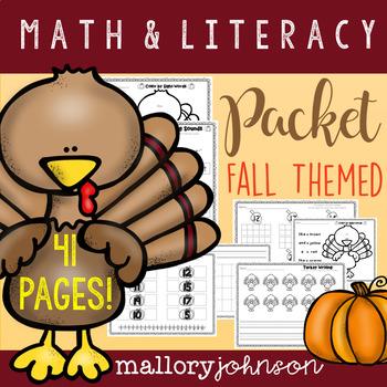 Fall Themed Math & Literacy Packet