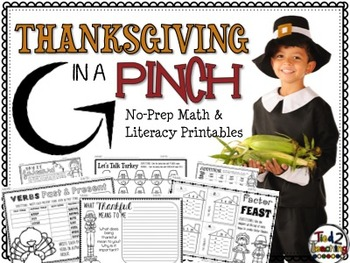 Thanksgiving Math & Literacy Print & Go