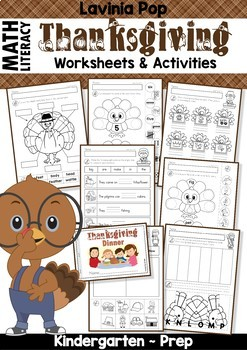 thanksgiving math literacy worksheets and activities by lavinia pop. Black Bedroom Furniture Sets. Home Design Ideas