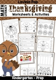 Thanksgiving Math & Literacy Worksheets and Activities