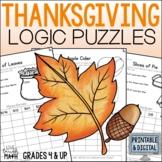 Thanksgiving Math Logic Puzzles {Thanksgiving Activities f