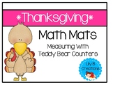 Thanksgiving Math Mat - Measuring With Teddy Bear Counters