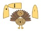 Thanksgiving Math Match, a game of number recognition in 3 ways, K-2