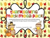 Thanksgiving Math Mega Pack (Thanksgiving Themed Centers for First Grade)