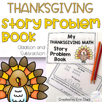 Thanksgiving Math Mini Book {Thanksgiving Themed Story Problems}