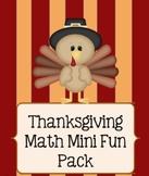 Thanksgiving Math Mini Fun Pack