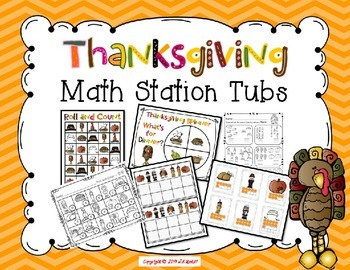 Thanksgiving Math Tub Stations