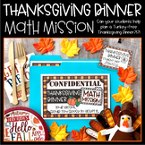 Thanksgiving Math Mission: Thanksgiving Dinner