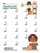 """Thanksgiving Math"" Mixed Multiplication Common Core Fun! (black line & color)"
