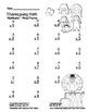 """Thanksgiving Math"" Mixed Multiplication Common Core  Fun! (black line version)"