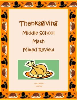 Thanksgiving Math Mixed Review