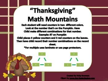 Thanksgiving Math Mountains