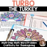 Thanksgiving Math Craft: Multi-Step Word Problem Craftivity for Grades 2-5