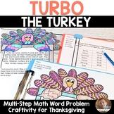 Thanksgiving Math Craft: Multi-Step Word Problem Craftivit