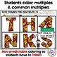 Thanksgiving Math - Multiples and Common Multiples - Thanksgiving Coloring FUN!