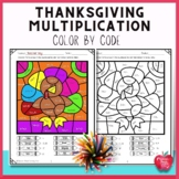 Thanksgiving Math: Multiplication Color by Code 50% off 1st 48 hours!