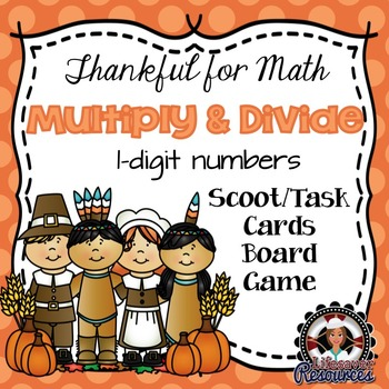 Thanksgiving Math Multiplication and Division Game