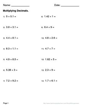 Thanksgiving Math: Multiplying Decimals Maze