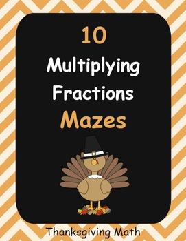 Thanksgiving Math: Multiplying Fractions Maze