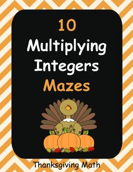 Thanksgiving Math: Multiplying Integers Maze