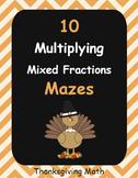 Thanksgiving Math: Multiplying Mixed Fractions Maze