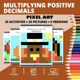 Thanksgiving: Multiplying Decimals Pixel Art Mystery Pictures
