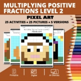 Thanksgiving: Multiplying Fractions #2 Pixel Art Mystery Pictures