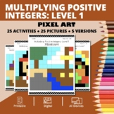 Thanksgiving: Multiplying Integers #1 Pixel Art Mystery Pictures