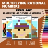 Thanksgiving: Multiplying Rational Numbers Pixel Art Myste