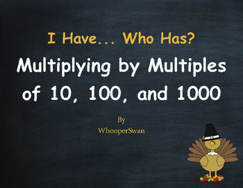 Thanksgiving Math: Multiplying by Multiples of 10, 100, and 1000