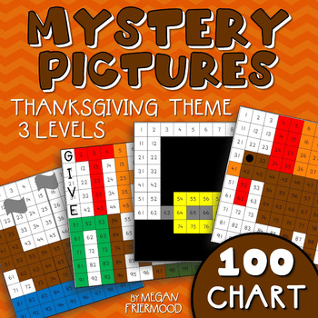 Thanksgiving Math Mystery Pictures {100 Chart} *DIFFERENTIATED*